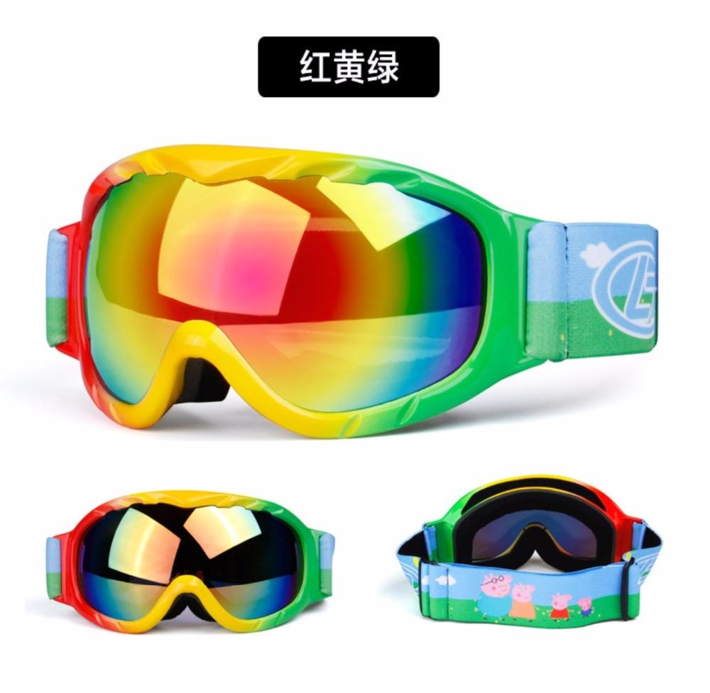 Children Kid Skiing Eyewear ski goggles double layers UV anti-fog big ski mask glasses skiing boys girls snow snowboard goggles