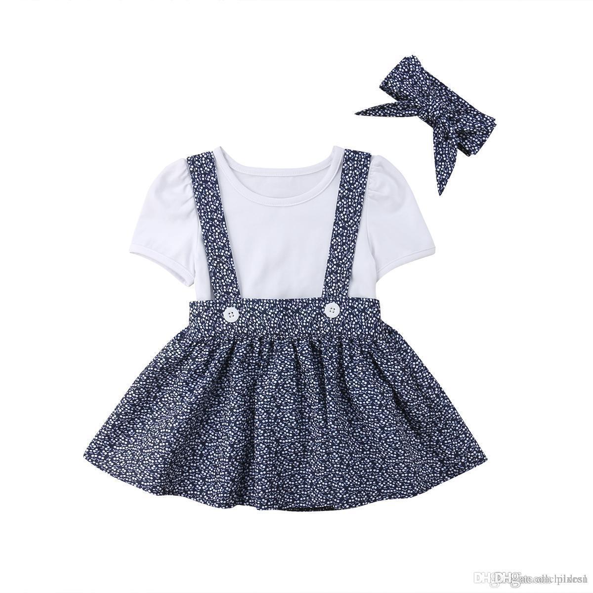 412d3cc4c 2019 Toddler Infant Kids Baby Girls Summer Short Sleeves Dress ...
