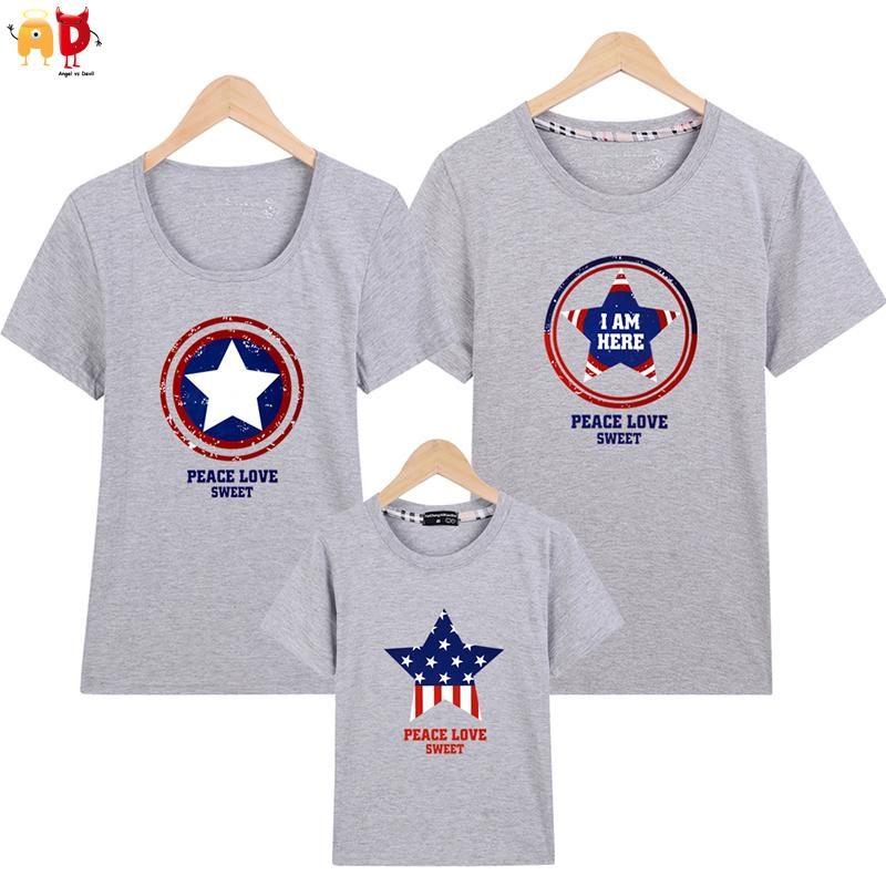 10bd276d5 Good Quality Captain Family Matching Clothes Father Son Mommy And Me Family  T Shirts Quality Cotton Couple T Shirts Clothing Mom Dad And Baby Matching  ...