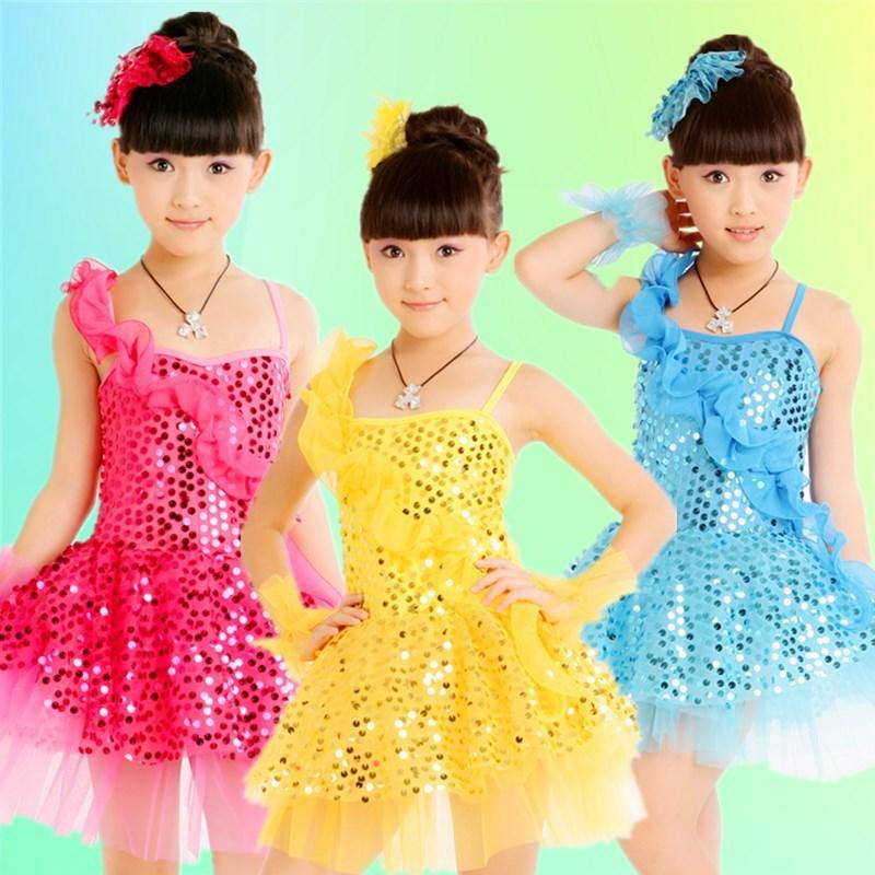 3431cb1cb 2019 Children Ballet Dance Costumes For Girls Sequins Jazz Dance Dress Kids  Modern Performance Girl Stage Dancewear From Haitan, $27.8 | DHgate.Com