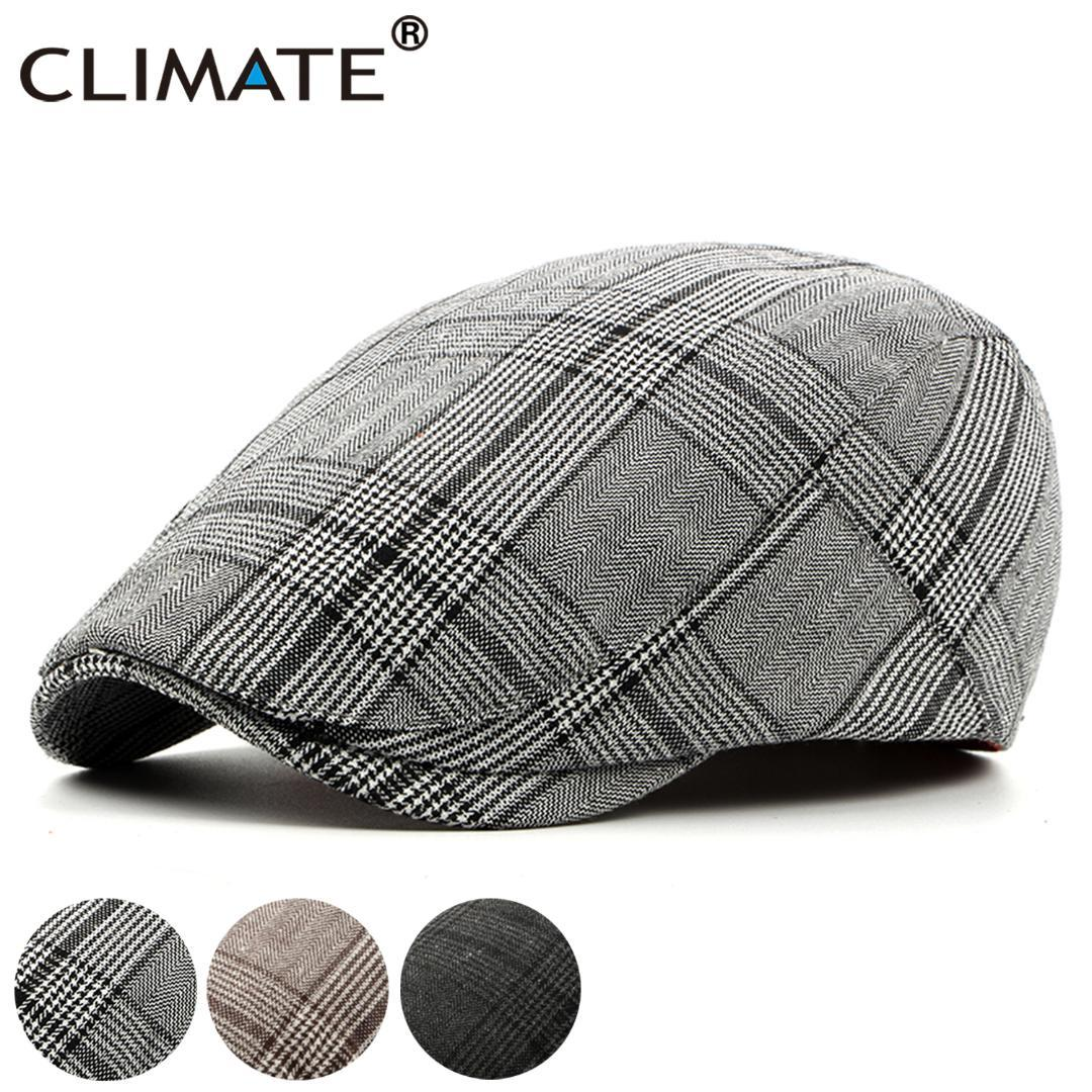 9e91f46dc4f 2019 CLIMATE Men Plaid Beret Flat Cap Men Vintage Hat Berets For Plaid  Casual British Gentleman Beret Retro Flat Caps Hat From Melontwo