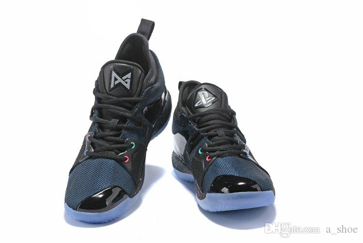 54dc79f67643 2019 Light UP Paul George 2 Playstation Blue Climbing Shoes Mens PG 2  Playstation Shoes Size US 7 13 With Box From A shoe