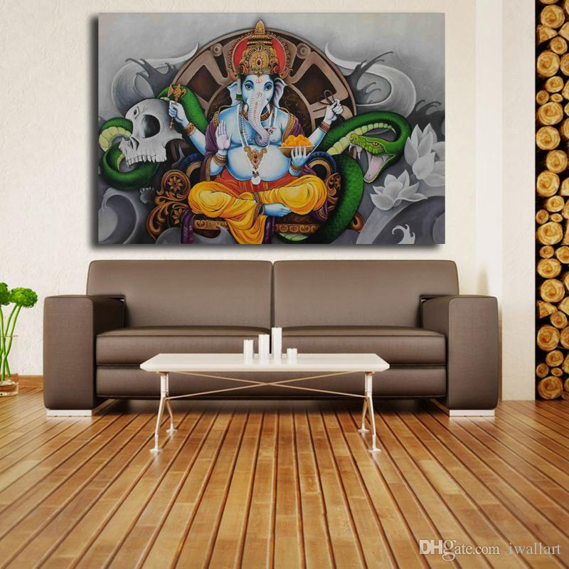 Hindu Deities Portraits Poster HD Canvas Painting Oil Wall Art Print Pictures Bedroom For Living Room Home Decoracion
