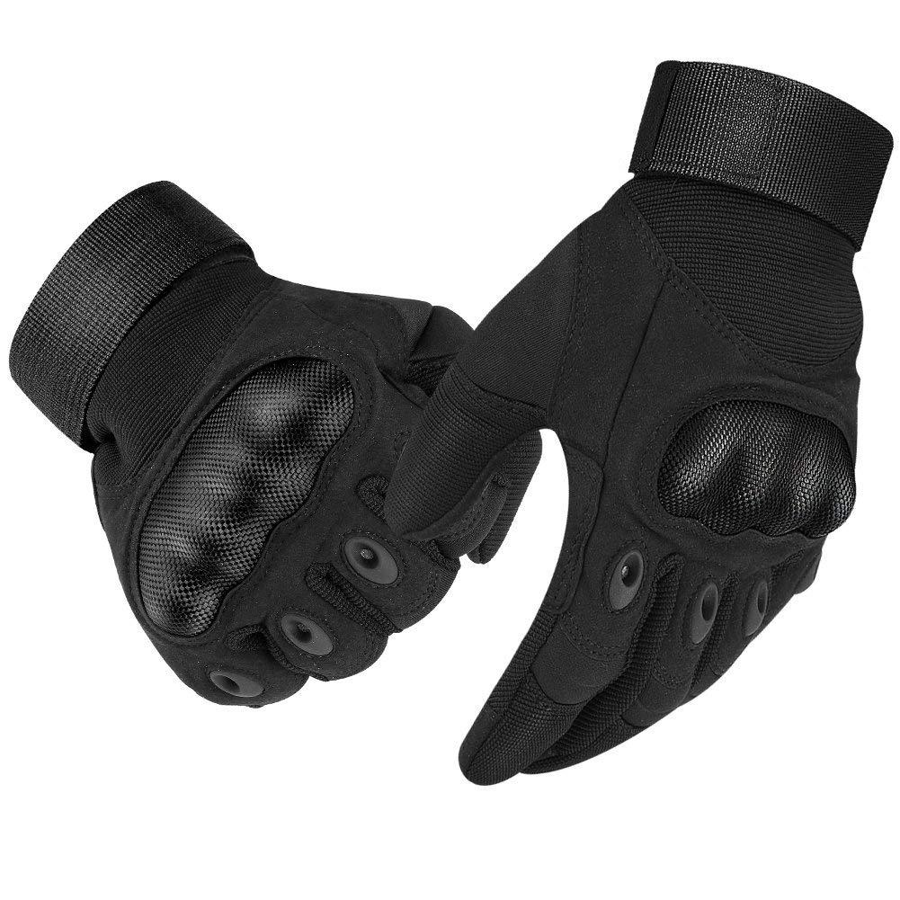 Tactical Gloves Touch Screen Rubber Hard Knuckle Outdoor Gloves for Motorcycle Paintball Airsoft Cycling Camping Full Finger
