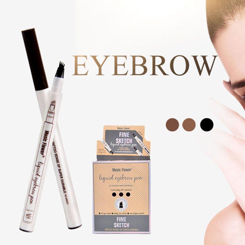 Eyebrow Enhancers 1pc Microblading Eyebrow Tattoo Pen Waterproof Eye Makeup 3 Colors Easy Use Eyebrow Pen Deep Color Pencil Eyebrow