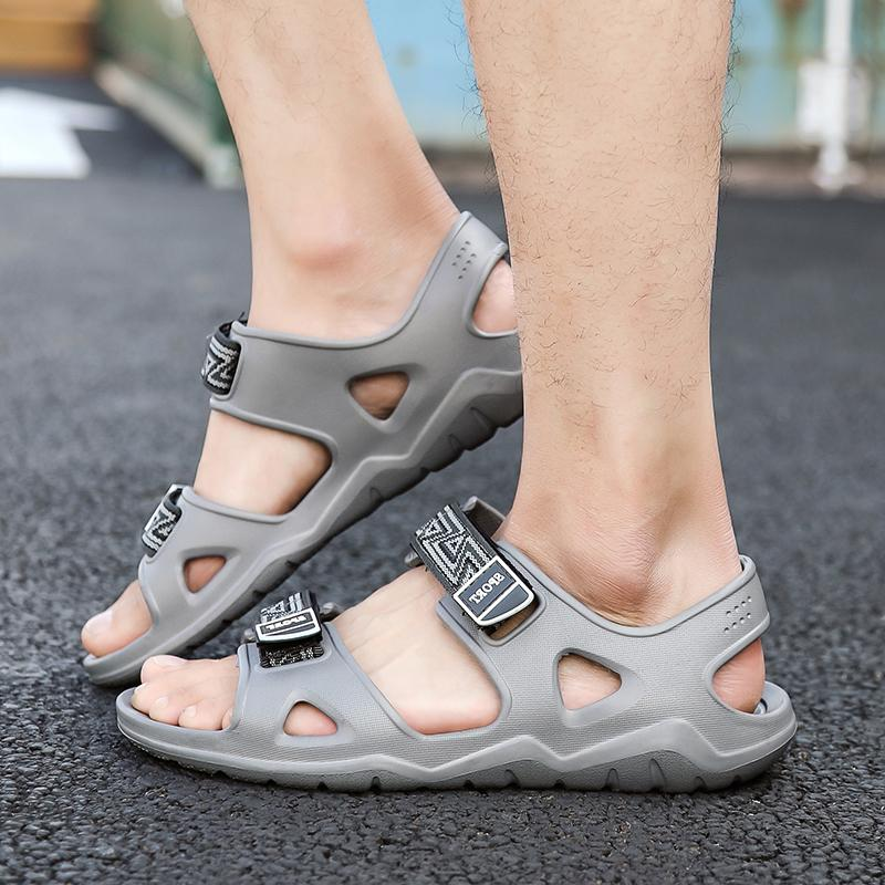 buy online b16d4 4ce37 Herrenschuhe Sandalen Herren Sandalen Sommer Schuh Strandschuhe New Light  Komfortable Hausschuhe chaussure homme ND209