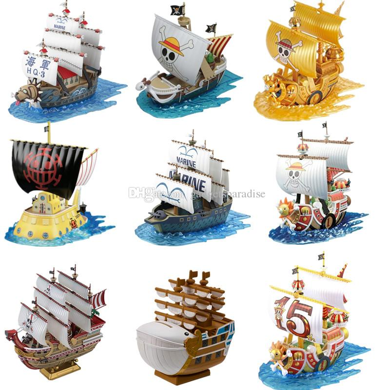 Japanese Anime One Piece the Grand Ship Collections Assembled Toy Model Thousand Sunny Going Merry Ship Model