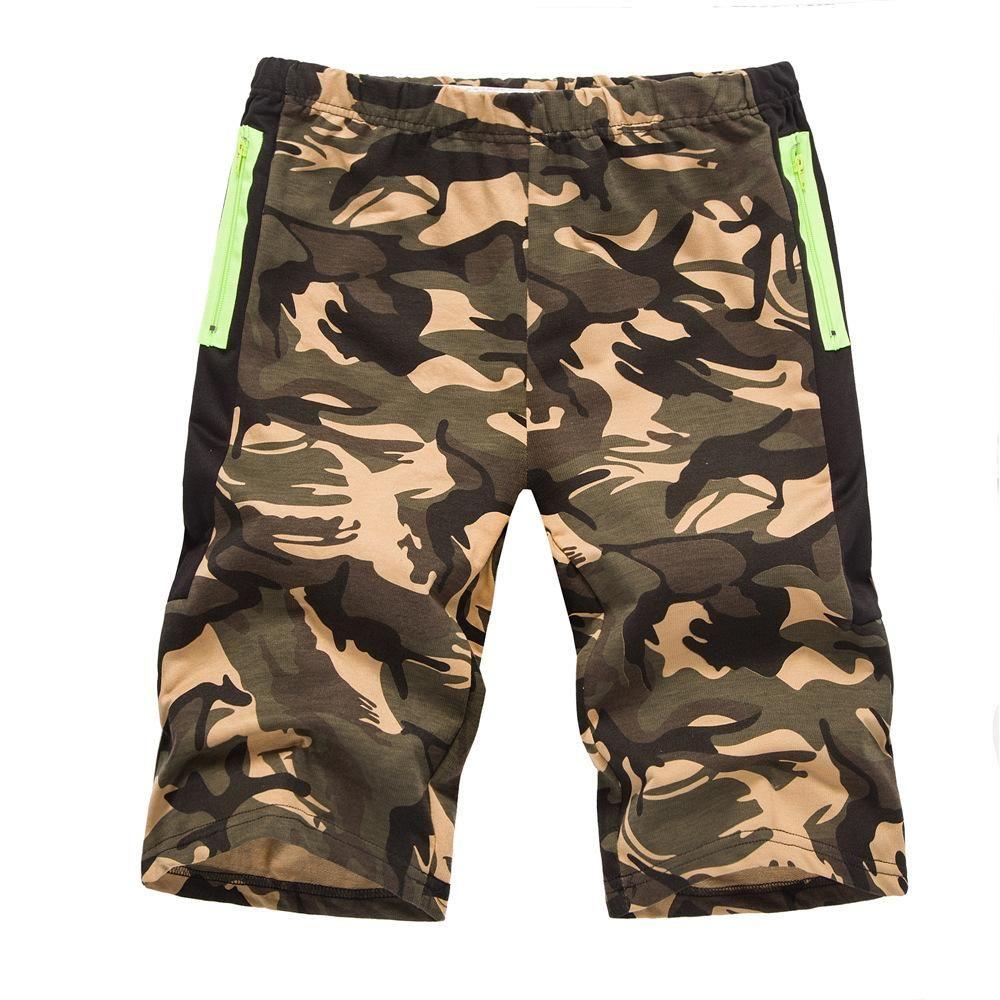 338a2efb3d Compre Pantalones Cortos De Desgaste De Los Hombres 2018 Impresión De Camuflaje  Al Aire Libre Ocio Movimiento De Punto Pantalones De Playa Pantalones De ...