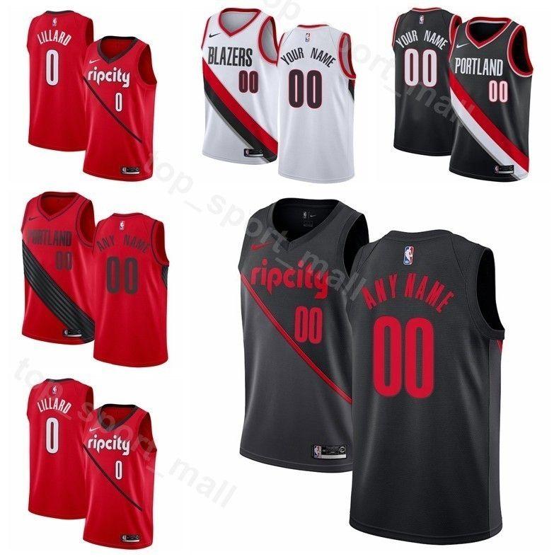 fda07b4ea ... top quality 2019 printed men youth women portland trail basketball  damian lillard jersey 0 cj mccollum