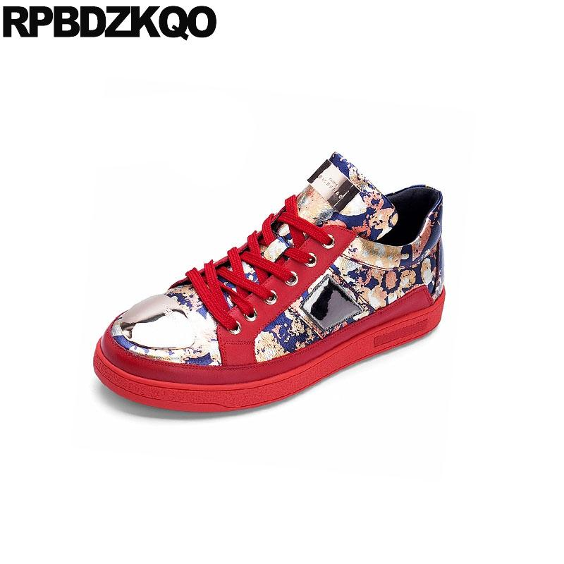 50b3cfc5b0d Skate Elevator Metal Height Increase Sneakers Printed Winter Men Shoes  Brand Casual Hip Hop Animal Print Luxury Red Trainers Shoes For Men Sports  Shoes From ...