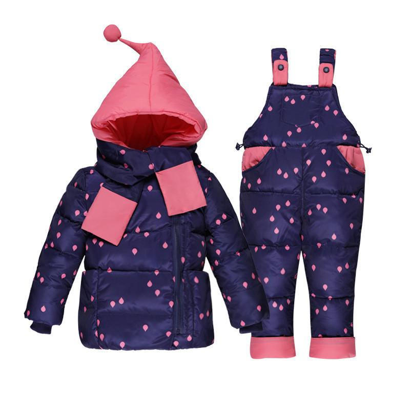 772f8f58a 2019 2019 Winter Baby Girls Clothing Sets Children Down Jackets Kids  Snowsuit Warm Baby Ski Suit Down Jackets Outerwear Coat+Pants From  Westbit17, ...