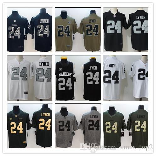 best service 5588a 7c931 2019 Mens 24 Marshawn Lynch Oakland Raiders Football Jersey 100% Stitched  Embroidery Raiders Marshawn Lynch #24 Color Rush Football Shirts