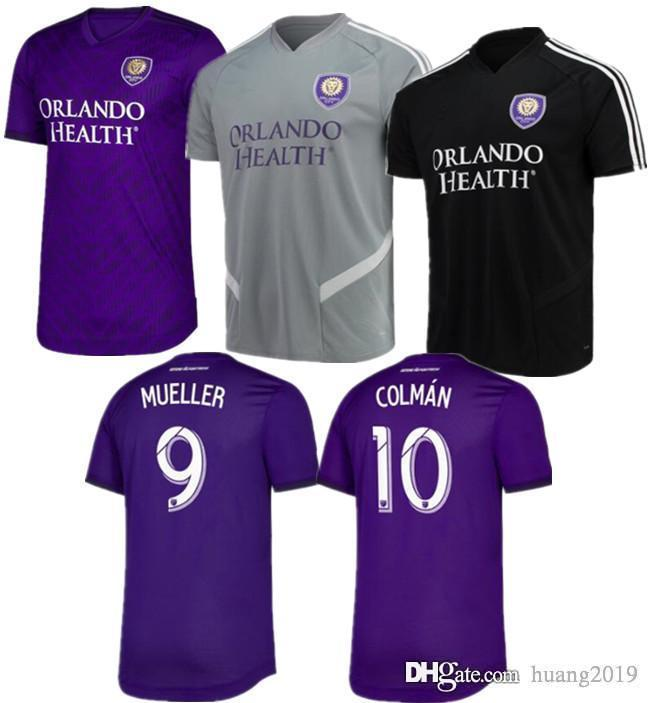 33025d7d708 2019 19 20 Orlando City Home Soccer Jersey J.MENDEZ MUELLER COLMAN DWYER  NANI KLJESTAN PATINO ORLANDO 2019 Football Sports Shirt.