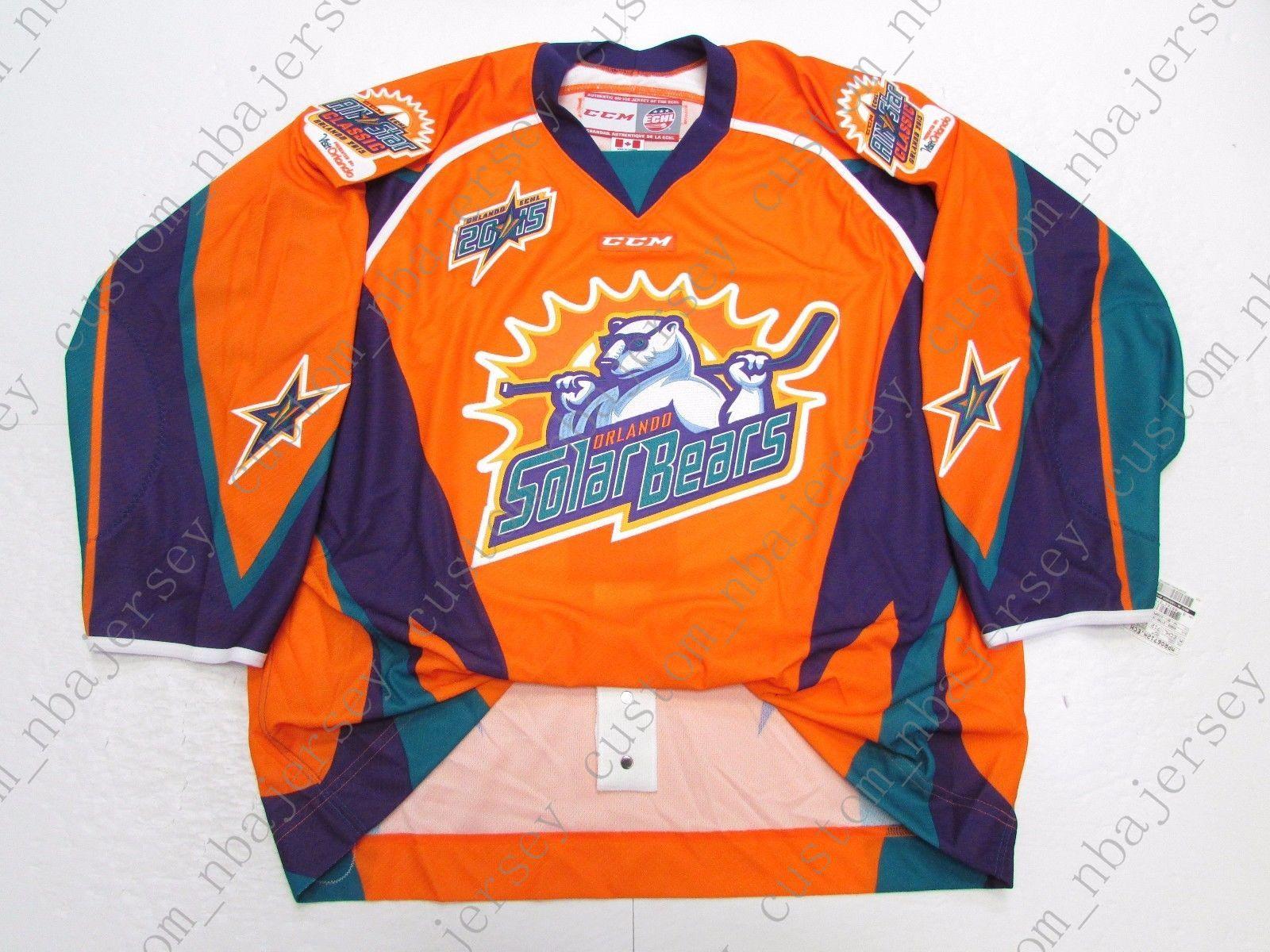 809b58344814 2019 Cheap Custom 2015 ECHL ALL STAR GAME ORLANDO SOLAR BEARS CCM JERSEY  Stitch Add Any Number Any Name Mens Hockey Jersey XS 5XL From  Custom nbajersey