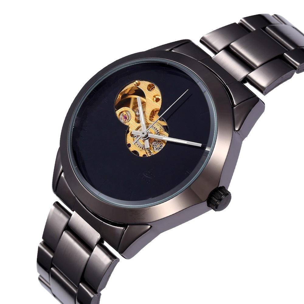 71ce5428701 Compre Invicta Relógios Homens Marca De Luxo E Mulheres Moda Tempo De Lazer  Conciso Oco Mecânica Totalmente Automático Relógio De Pulso Mestre Frete  Grátis ...