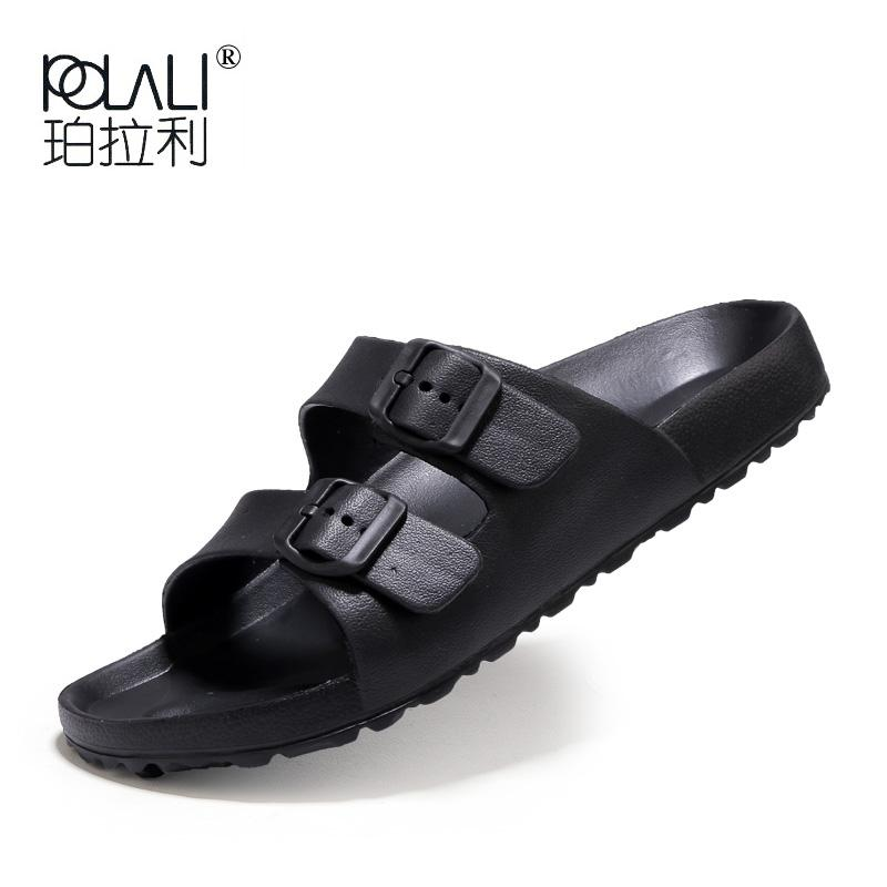 1ebb16cc55a9 POLALI Men Sandals Fashion Men Slipper Summer Beach Shoes Lover Shoes Open  Toe Slides Slippers Sandalias Hombre Plus Size 36 45 Knee High Gladiator  Sandals ...
