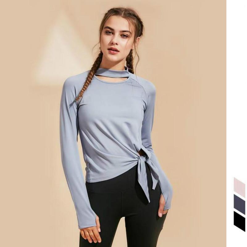 Crop Ropa Camisa Tops Top De Blusa Yoga Entrenamiento Mujer Manga Gimnasio Camiseta Larga Deportiva Para n0wN8vm