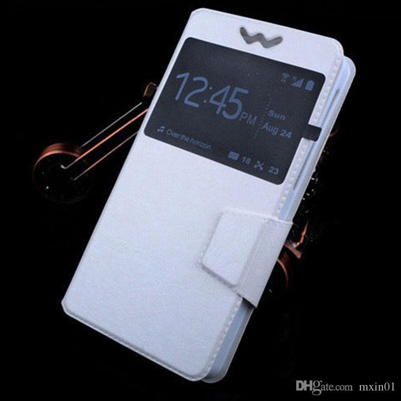 유니버설 창 아래로 당겨 지갑 PU 뒤집기 가죽 케이스 3.5 4.0 4.3 4.7 5.0 5.5 6 인치 핸드폰 아이폰 삼성 화웨이 샤오 미 모토 LG