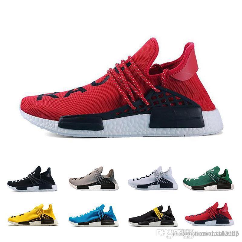 4f0701393f8 Compre Adidas Originals Nmd Com Caixa Human Corrida Hu Trilha Pharrell  Williams Homens Tênis Nerd Preto Azul Mulheres Mens Formadores Moda Sports  Runner ...