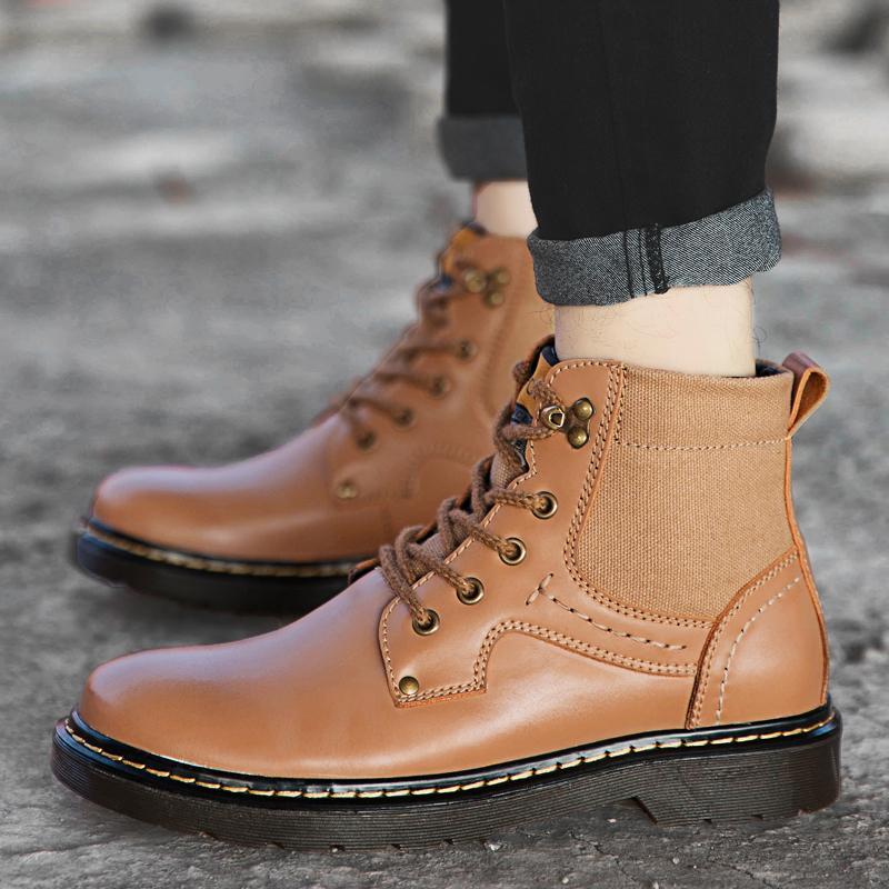 2286d9bbba3 Compre Moda Botines Para Hombre Botas De Martins Zapatos De Trabajo Para  Exterior Zapatos De Senderismo De Alta Calidad Zapatos Resistentes Al  Desgaste ...
