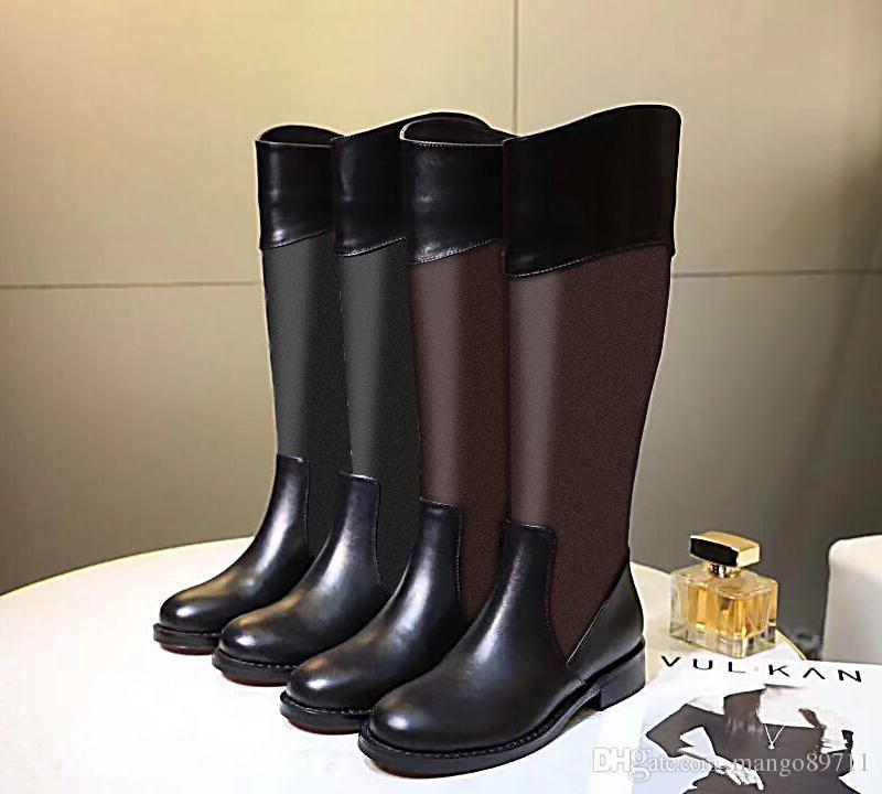 Pop Pop Flock Leather Women Over The Knee Boots Lace Up Sexy High Heels Women Shoes Zipper Winter Boots Warm Size 25-51