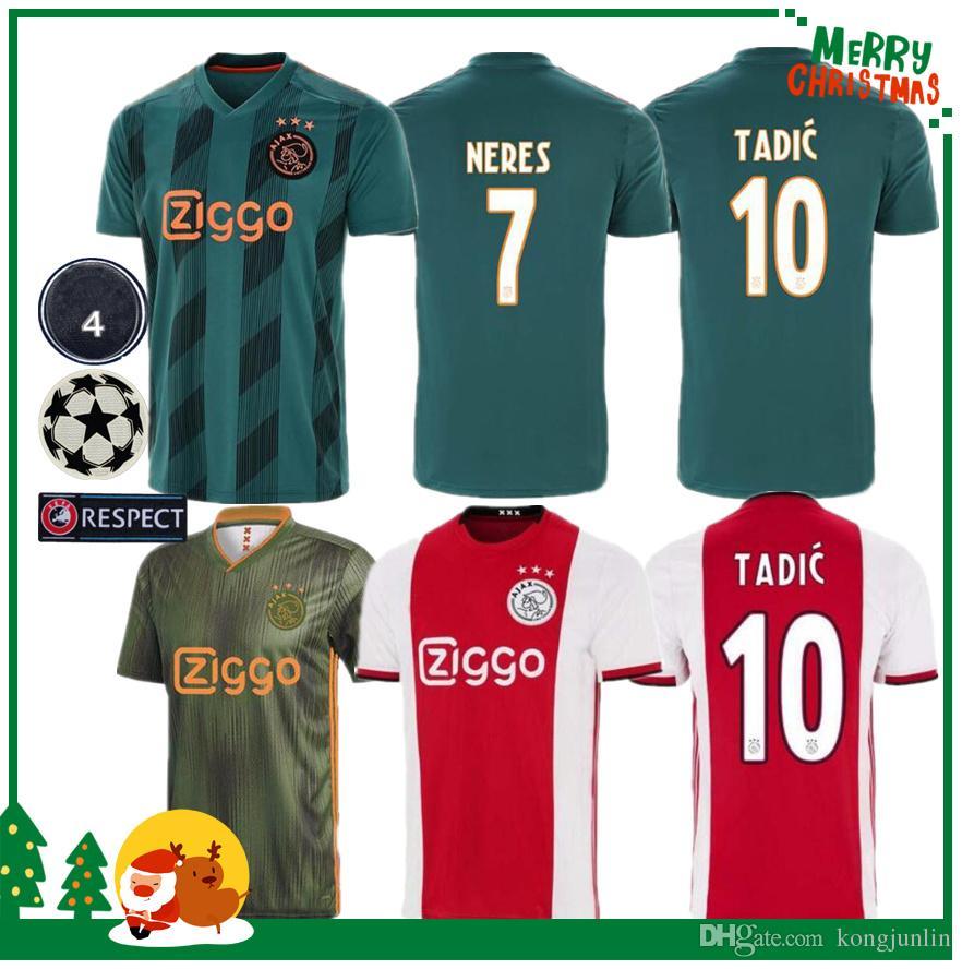 3d97d7cd9 2019 New 2019 2020 AJAX FC DE JONG TADIC Soccer JerseyS HUNTELAAR ZIYECH  CRUYFF Jerseys 19 20 Away Football Man Kids Kit Shirt Netherland Voet From  ...