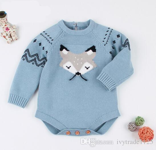 3cdaa71849f 2019 Baby Kids Designer Clothes Girls Boy Romper Knitted Solid Color ...