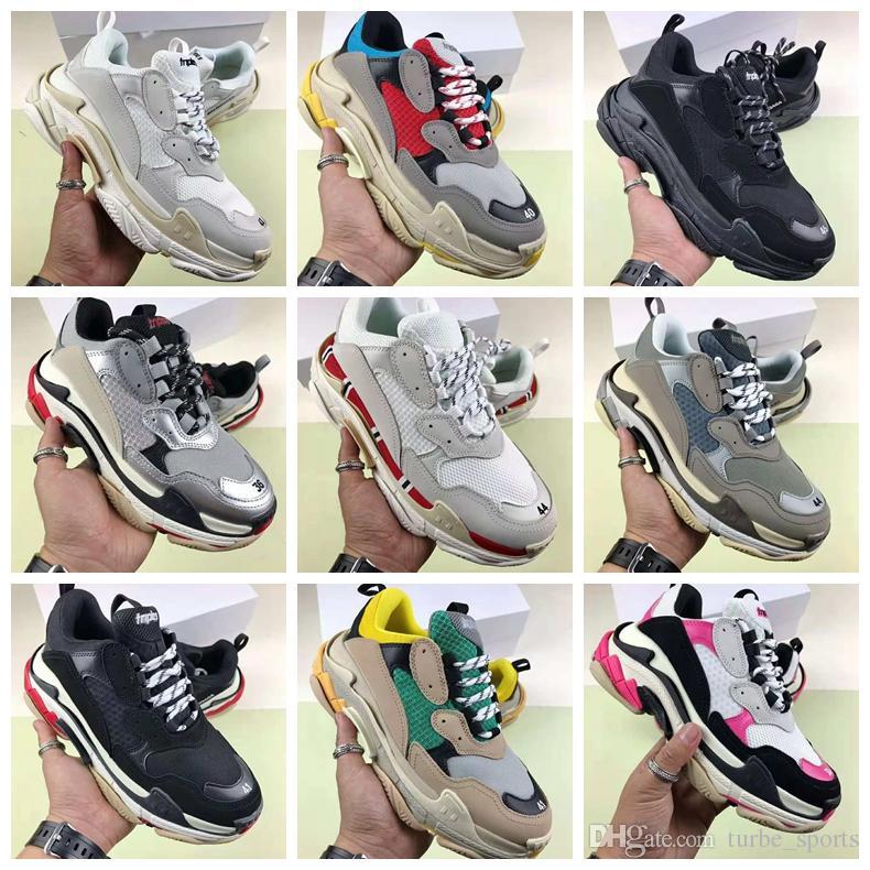 Grand Balenciaga Père Chaussure S Sneaker Couleurs 17fw Femme Mélangées Triple Luxe Combinaison Homme Épais Talon BottomDévoile dxBroECQeW