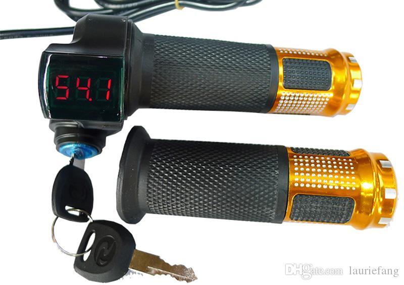 36V 48V Speed Control Thumb Throttle Grip LED Indicator Light For E-Bike Scooter