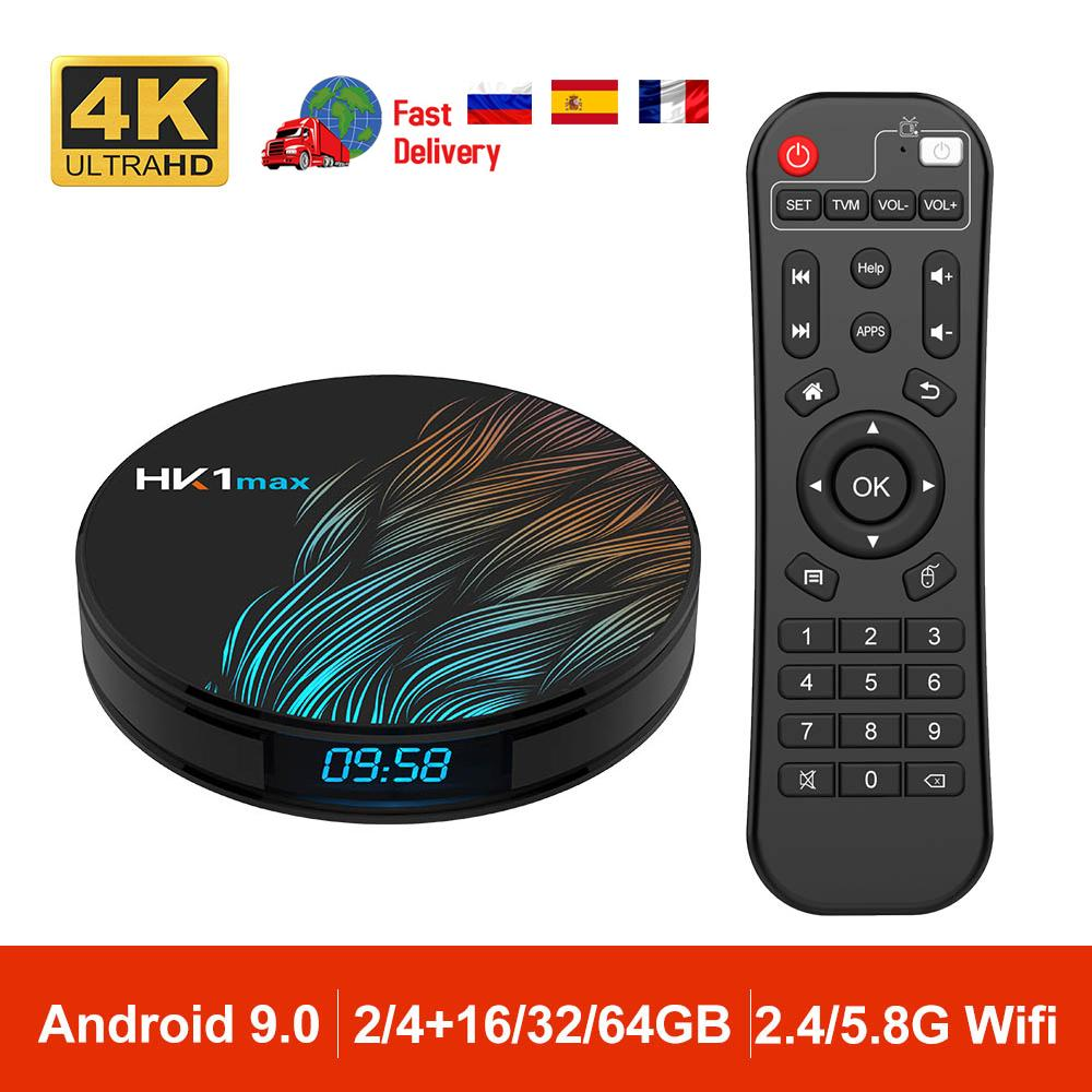 Android 9.0 HK1 MAX Smart TV Box 2.4G / 5G Wifi RK3328 Quad-Core BT 4.0 Set Top Box Media Player 4G 32G 64G PK TX6 X96 HK1MAX