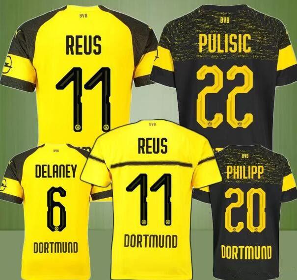 Borussia Dortmund Soccer Jerseys GOTZE REUS PULISIC 18 19 BVB ... 73b368254