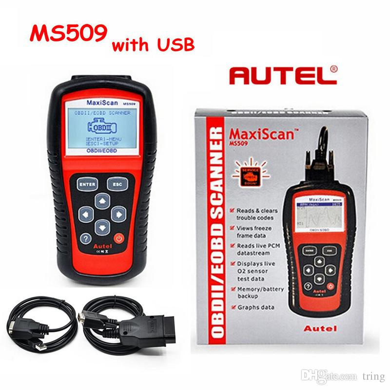 Autel MaxiScan MS509 OBD Scan Tool OBD2 Scanner Code Reader Auto Scanner With two Cables