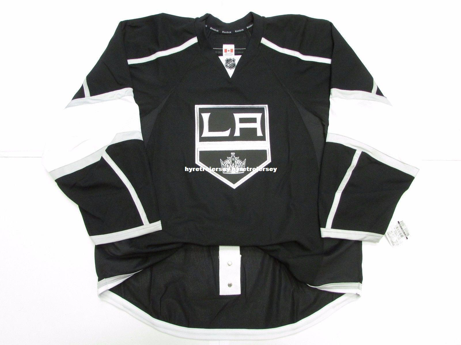 new styles 4d376 7121a Cheap custom LOS ANGELES KINGS HOME TEAM ISSUED EDGE 2.0 7287 JERSEY SZ 58+  stitch add any number any name Mens Hockey Jersey GOALIE CUT 5XL