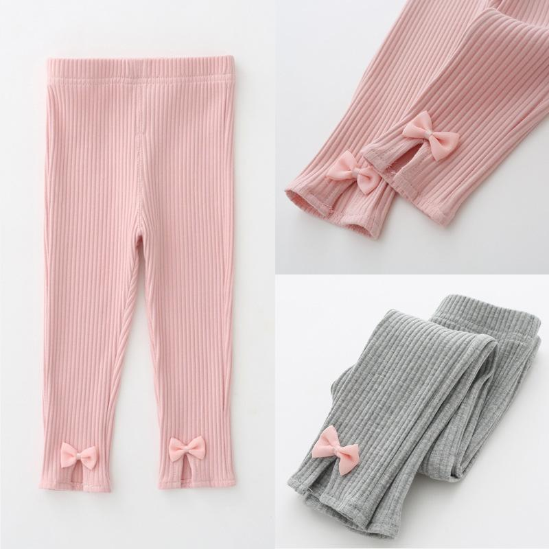Girls Leggings Pants 2019 Autumn Leggings For Girls Clothes Cute Bow Tie  Skinny Baby Girl Knitted Leggings Children Clothing Boys Size 16 Pants Boys  Size 18 ... 78285017581c