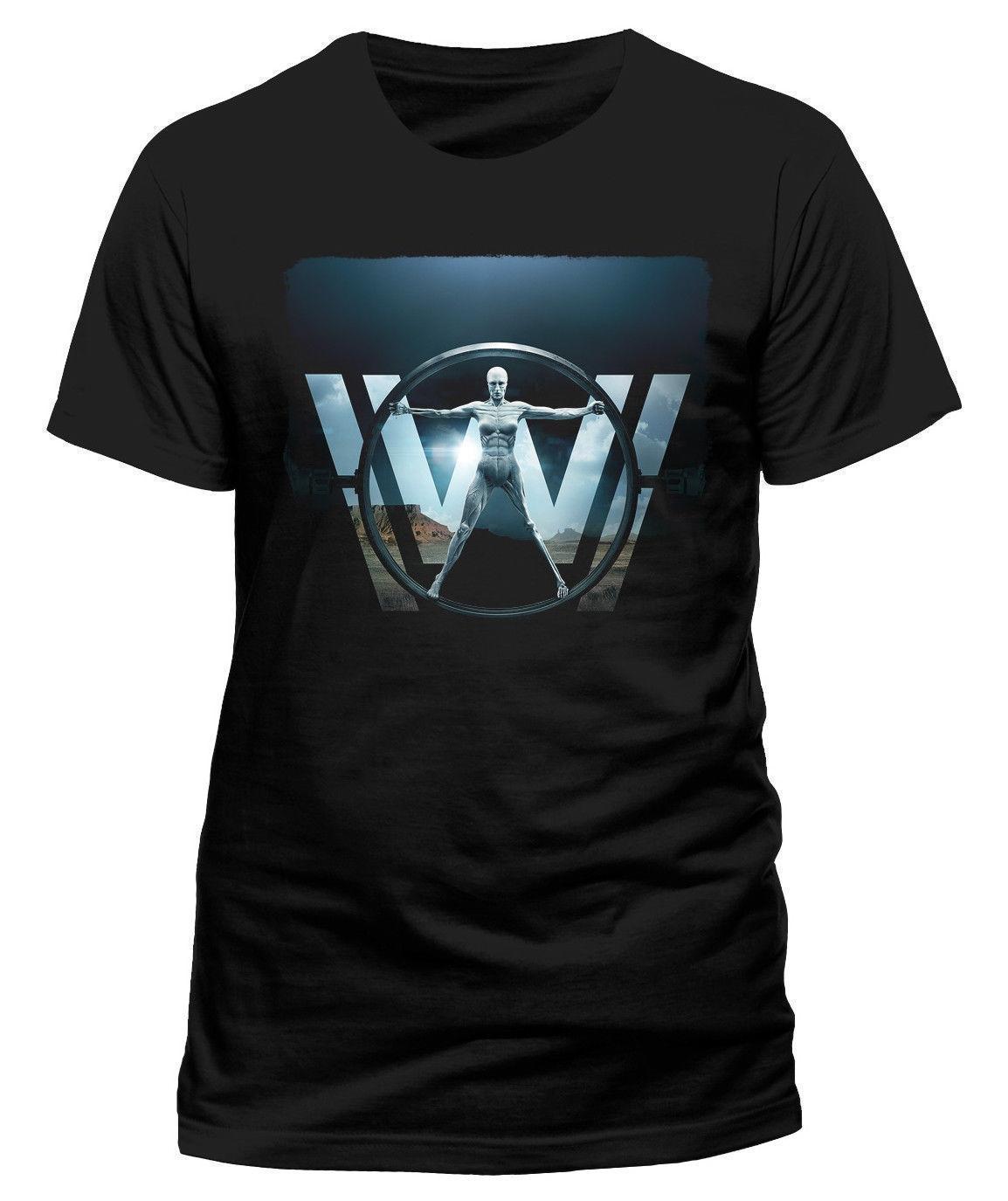 513c7eff Westworld 'Vitruvian WOMAN' T SHIRT NUOVO E ORIGINALE Silly T Shirt ...