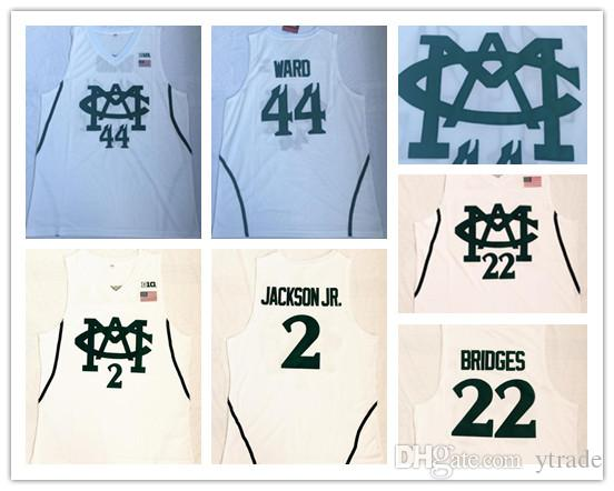61b5d0dcebec 2019 Men Michigan State Spartans Nick Ward College Jersey 2 Jaren Jackson JR.  22 MILES BRIDGES White University Shirt Basketball Jersey From Ytrade