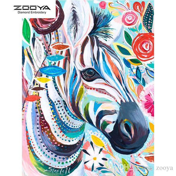 ZOOYA DIY 5D Diamante Pieno Rotondo Pittura Diamante Ricamo Mosaico Pittura A Olio Zebra Punto Croce Home Decor