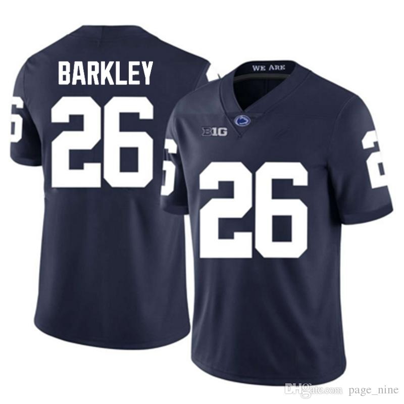 the latest 1edd4 66cd1 NCAA 26 Saquon Barkley Jersey American College Football Wear free shipping