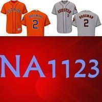 best service c5df9 8963d 2019 Cheap MEN Hn Astros Jersey 2 Alex Bregman Baseball Jersey Embroidery  Logos 100% stitched size S-3XL