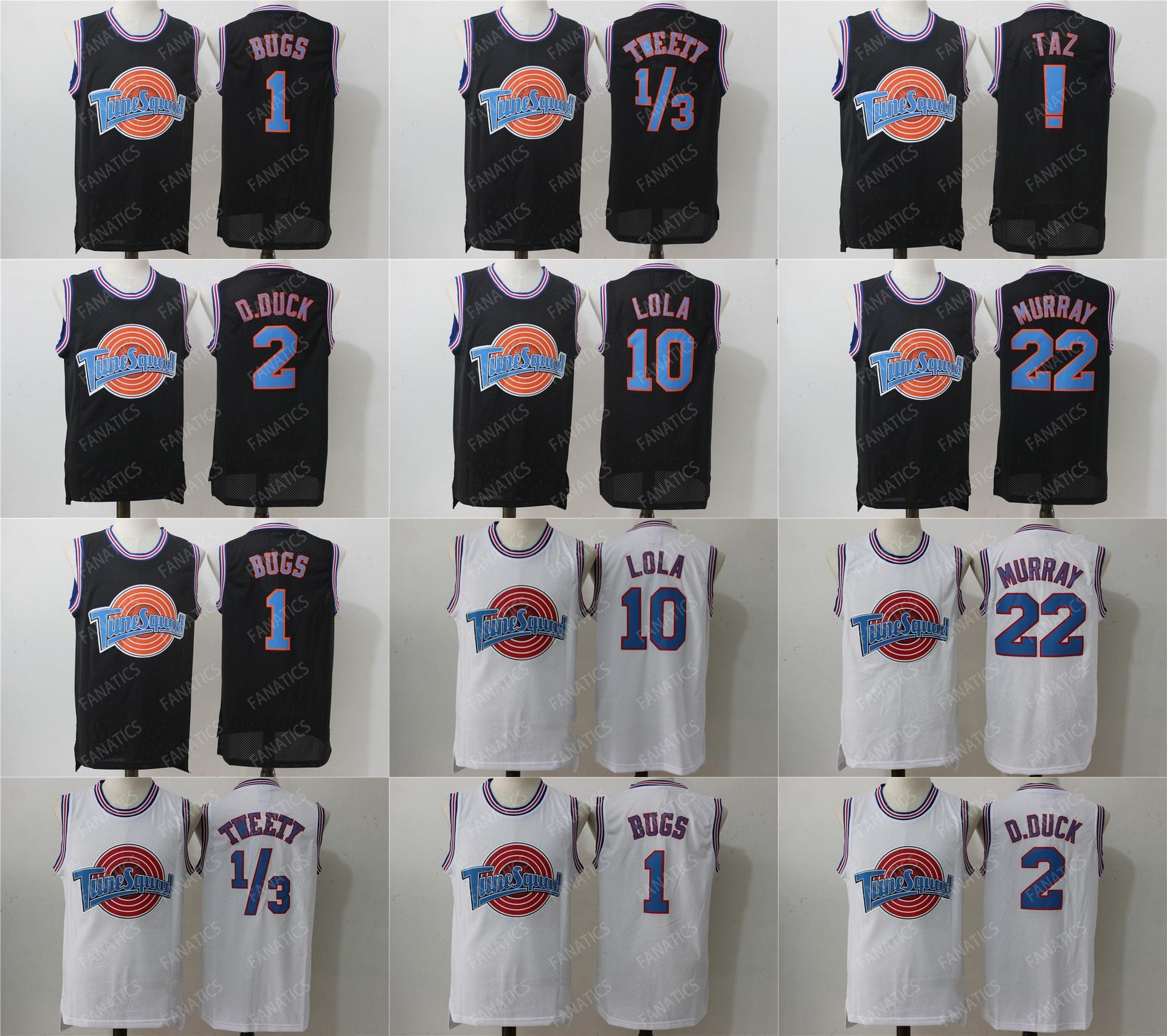 2c10b6671331 2019 Top Mens Youth Space Jam Movie Tune Squad 23 Michael 1 Bugs Bunny !  Taz 1 3 Tweety 22 Bill Murray 10 Lola 2 D.DUCK Basketball Jersey From  Espn sport