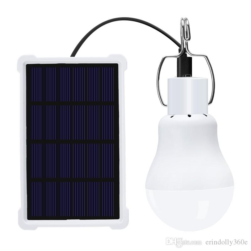 New Version Portable Solar Light 1.2W Solar Powered Energy Garden Lamp Bulb for Outdoor Camping Tent Light with Waterproof Case