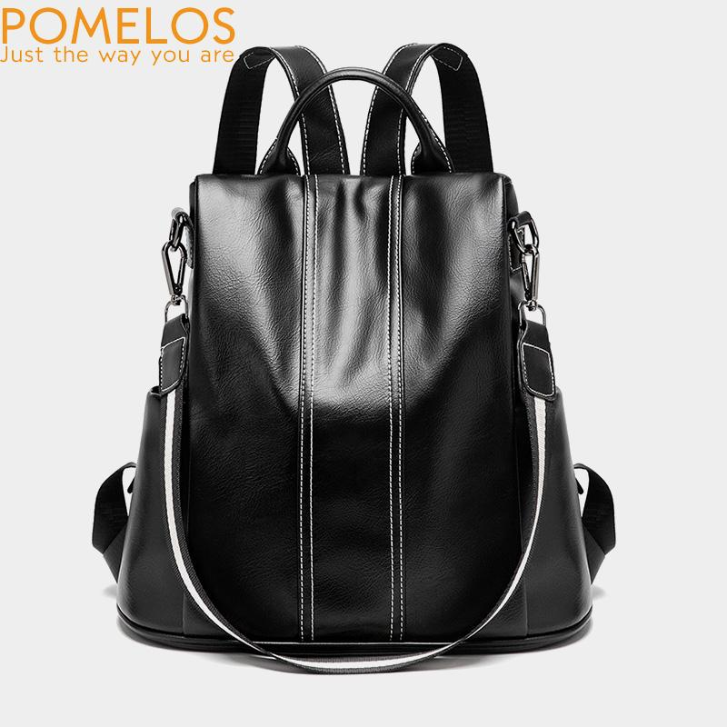 803451d3e7 POMELOS Women Leather Backpack PU High Quality Fashion Backpack For Urban  Girls Multi Functional Women Anti Theft NEW Personalized Backpacks Hunting  ...