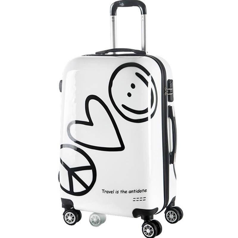 0472965dad Acquista LeTrend Coreano Carino Rotolamento Bagagli Spinner Password  Cartoon Valigie Ruote Da 20 Pollici Donne Carry On Trolley Bag Travel Trunk  A $100.68 ...