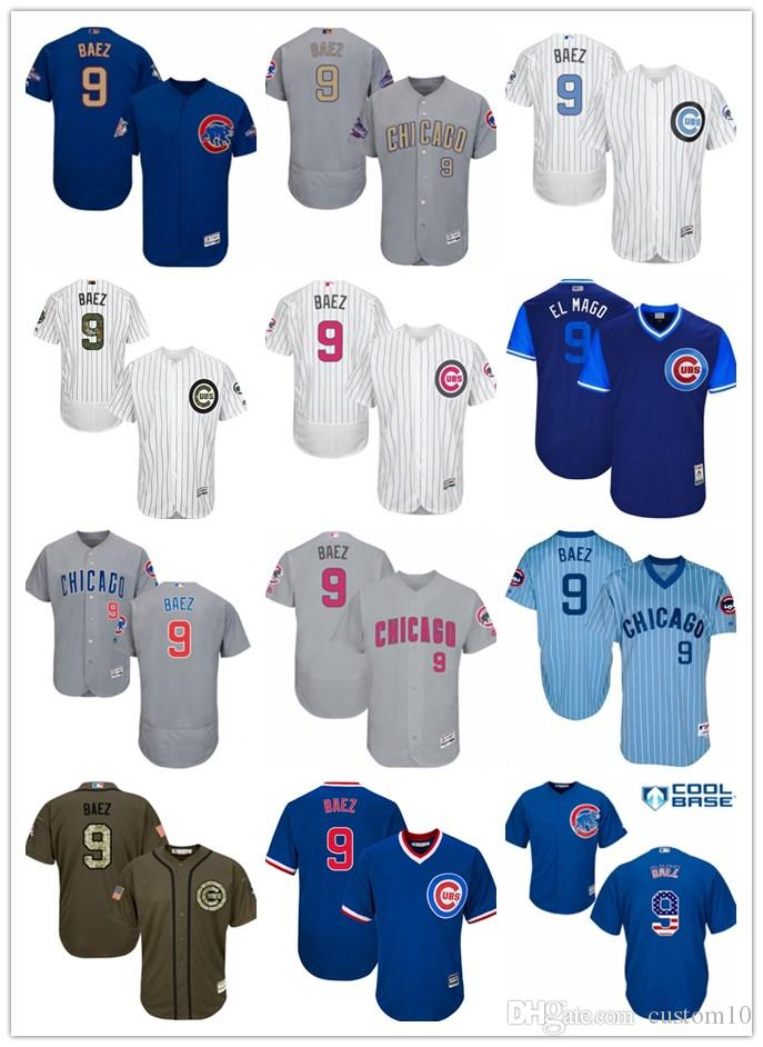 new style a7104 af284 Men's Women's Youth Chicago 9 Javier Baez