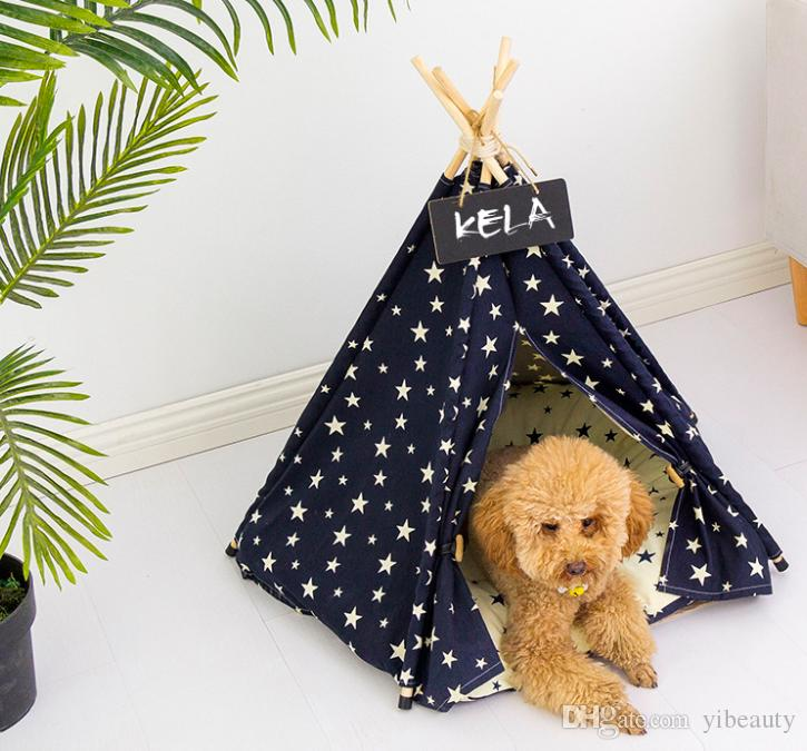 KELA pet tent teddy poodle small and medium-sized dog kennel cat kennel  canvas fabric wooden pet kennel
