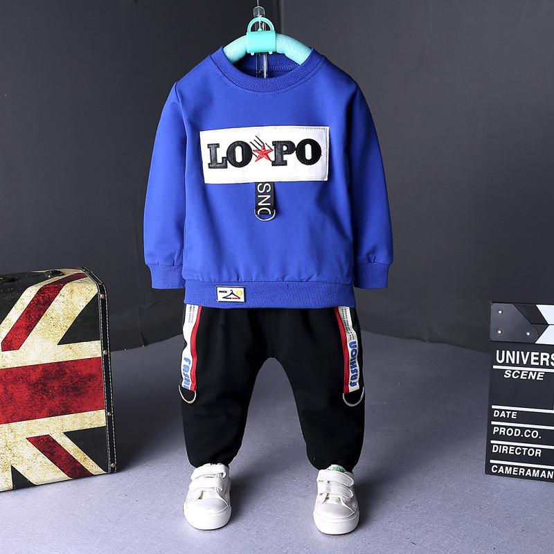 e2acaaf96 2019 Quality Boys Clothing Sets Spring Autumn Children Boys Sport Suit Set  Sweatshirts Pants Tracksuit Clothing For Baby Boys From Superbest14, ...