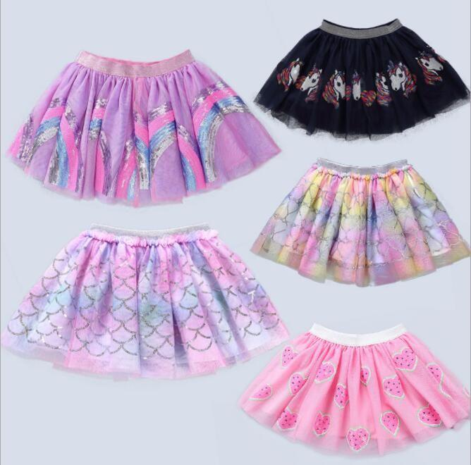 61ec35d5d 2019 Kids Baby Tutu Skirt Pettiskirt Ballet Fancy Costume Colorful ...