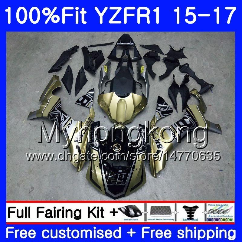 Injection Body For YAMAHA YZF R1 1000 YZF-R1 15 16 17 243HM.6 YZF-1000 YZF R 1 champagne factory YZF1000 YZFR1 2015 2016 2017 Fairings kit