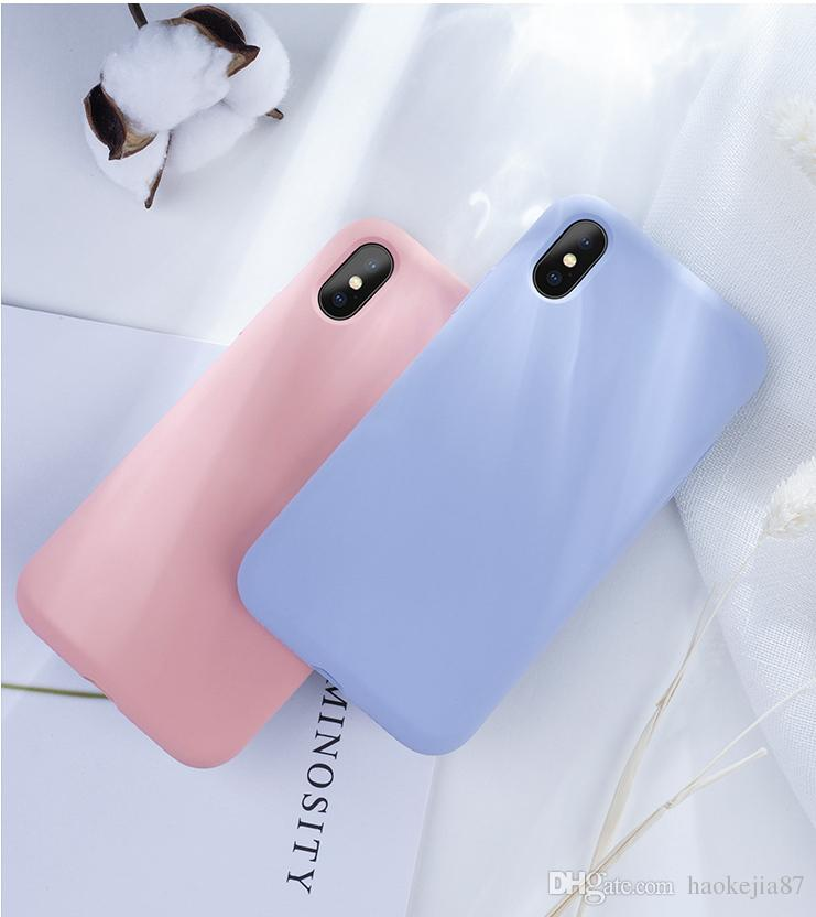 c4b9d27f678 Fundas Personalizadas Para Moviles Silicona Líquida Color Del Caramelo Funda  De Teléfono Mate Para IPhone 7 Plus 6 6s 8 5 5s SE Para IPhone XS MAX X XR  ...