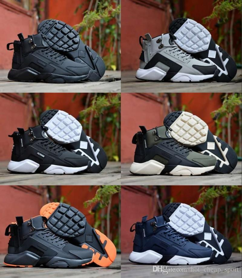 separation shoes 30d0b 62c4f Acquista New Air Huarache 6 X Acronimo City MID High Top In Pelle Huaraches  Running Shoes Uomo Donna Huraches Sneakers Hurache Zapatos Taglia 7 11 A   74.69 ...